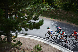 Tayler Wiles (USA) and Omer Shapira (ISR) climb out of Mende at Tour Cycliste Féminin International de l'Ardèche 2018 - Stage 5, a 138.4km road race from Grandrieu to Mont Lozère, France on September 16, 2018. Photo by Sean Robinson/velofocus.com