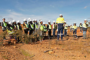 Newmont mining Boddington goldmine site visit for the African mining delegation, Murdoch University