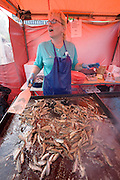 Hakaniemi market square. Muikku (delicious little fish).