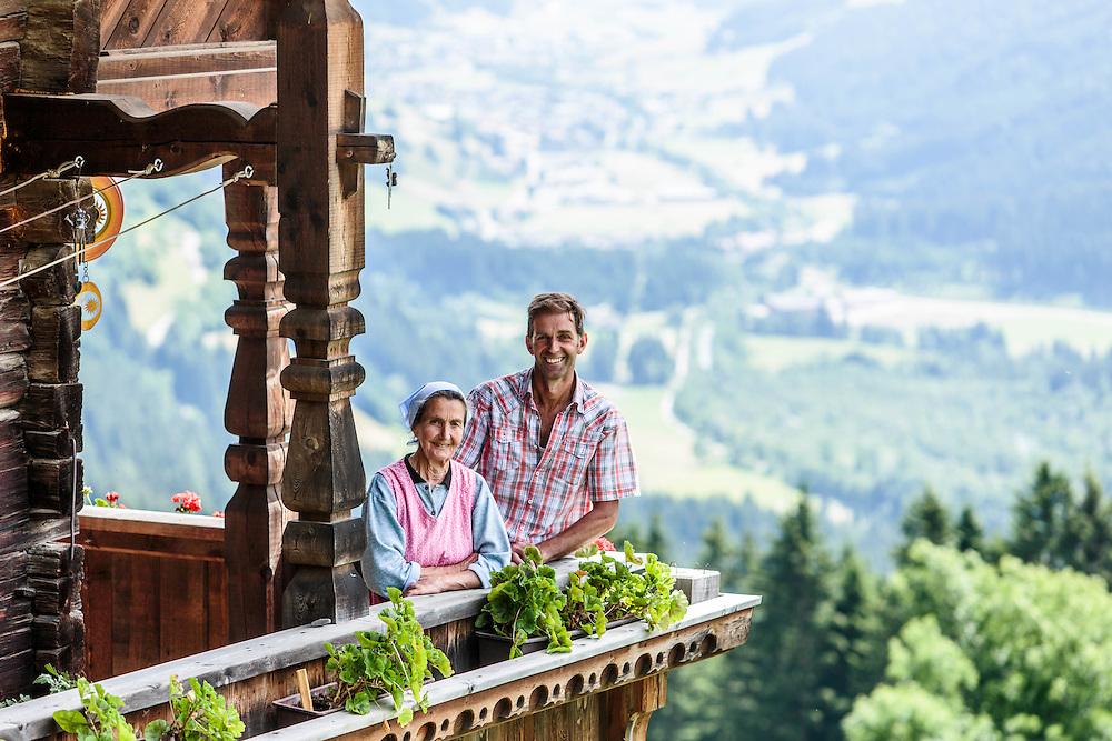 """04 JUL 2014 - Prato alla Drava, San Candido (BZ) - Location della fiction """"Un passo dal cielo"""" - La baita Schneider - Marianna e Willi Bachmann, proprietari"""
