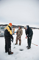 Great Meredith Rotary Fishing Derby Friday, February 6, 2015.  Karen Bobotas for the Laconia Daily Sun