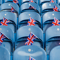 Rangers v Celtic Scottish Premiership 11 March 2018; home fans seats before the Rangers v Celtic Scottish Premiership match played at Ibrox Stadium, Glasgow; <br /> <br /> &copy; Chris McCluskie | SportPix.org.uk