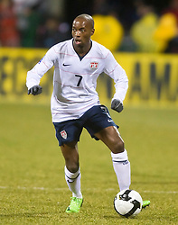 United States midfielder DaMarcus Beasley (7).  The United States men's soccer team defeated the Mexican national team 2-0 in CONCACAF final group qualifying for the 2010 World Cup at Columbus Crew Stadium in Columbus, Ohio on February 11, 2009.