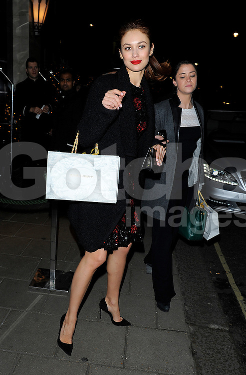 Olga Kurylenko attends the Claridge's &amp; Dolce and Gabbana Christmas Tree party at Claridge's Hotel in London, UK. 19/11/2014<br />
