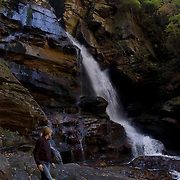 Sarah VDP hikes through Pisgah National Forest near Asheville, North Carolina.