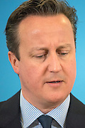 © Licensed to London News Pictures. 23/02/2015. Hastings, UK  British Prime Minister David Cameron makes a speech setting out the Conservative Party's fifth manifesto theme in Hastings East Sussex today 23rd February 2015. Photo credit : Stephen Simpson/LNP