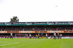 General View of Bristol City fans in the sold out away end - Rogan Thomson/JMP - 01/04/2017 - FOOTBALL - Griffin Park - Brentford, England - Brentford v Bristol City - Sky Bet EFL Championship.