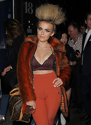 Tallia Storm attends LFW s/s 2016: PPQ  catwalk show at The Vinyl Factory during London Fashion Week. London, UK. 18/09/2015<br />
