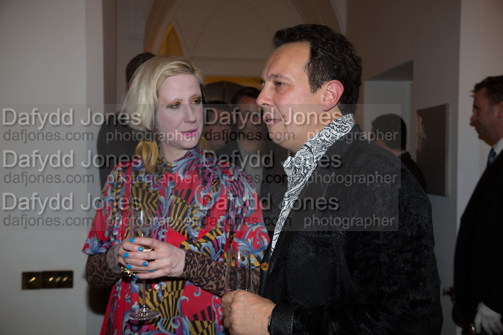 JULIE VERHOEVEN; DETMAR BLOW, Valeria Napoleone hosts a dinner at her home in honour of Judith Hopf in cerebration of her new commission at Studio Voltaire. London. 15 October 2013