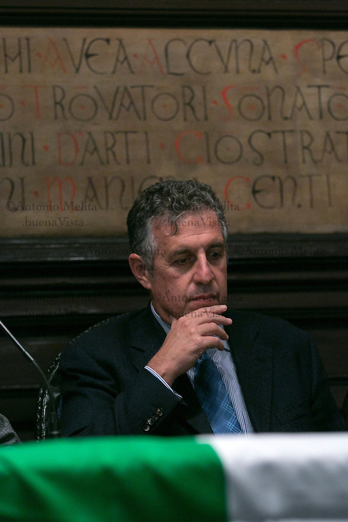 Il PM antimafia Nino Di Matteo durante il convegno a sostegno del No al prossimo referendum costituzionale.<br />