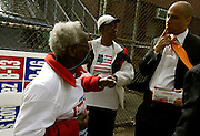 Cory Booker charms poll workers on election day in 2002.