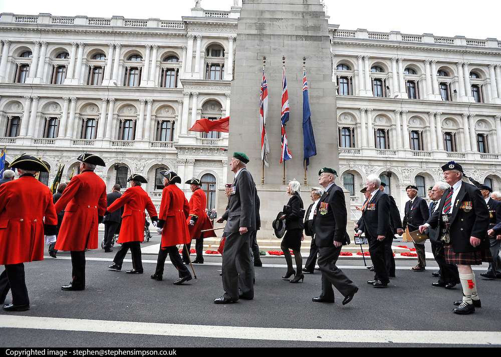 LONDON. UK. The Prime Minister, HRH Prince Charles and Duchess of Cornwall attend the 65th Anniversary of Japan's WWII surrender. Today marks VJ day, the anniversary of Japan's surrender to allied forces and the end of the Second World War in 1945. The Allies had delivered Japan an ultimatum to surrender on 28 July 1945. However, this was ignored and the US then dropped atomic bombs on Hiroshima on 6 August and on Nagasaki on 9 August. While 15 August is celebrated as the day of the surrender, the Japanese administration under General Koiso Kuniaki officially did not deliver the signed surrender document until 2 September, which is also known as VJ Day.15 August 2010. STEPHEN SIMPSON..