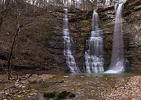 Triple/Twin Falls near Camp Orr Boy Scout Camp in Northwestern Arkansas