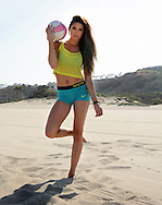 Fitness, Fashion & Beauty Photography - Sports Illustrated model, Amanda Frances photographed at Point Dume in Malibu, CA.