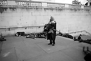 SIR NORMAN ROSENTHAL, INTERCOURSE: Re-enacting Eisenstein: The Odessa Steps Sequence from Battleship Potemkin<br /> Jane and Louise Wilson directed the re-enactment on the steps outside the ICA. 26 November 2011.
