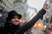 Santiago Mazzarovich/ URUGUAY/ MONTEVIDEO/ Se realiz&oacute; en Montevideo una marcha contra la violencia machista por los &uacute;ltimos femnicidios y casos de violencia en Uruguay, y otros pa&iacute;ses de Am&eacute;rica Latina.<br /> <br /> En la foto: Marcha contra la violencia machista. Foto: Santiago Mazzarovich / adhocFOTOS.<br /> <br /> 20161019 d&iacute;a mi&eacute;rcoles