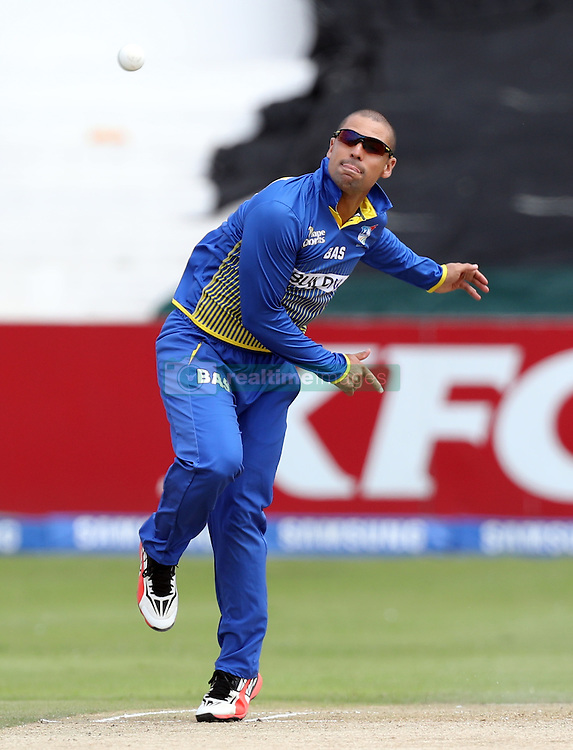 Justin Ontong of BuildNat Cape Cobras during the T20 Challenge cricket match between the Dolphins and the Cobras at the Kingsmead stadium in Durban, KwaZulu Natal, South Africa on the 4th December 2016<br /> <br /> Photo by:   Steve Haag / Real Time Images