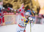 VAL DI FIEMME, ITALIEN - 2017-01-08: Charlotte Kalla under damernas 9 km fristil jaktstart, den 8 januari, 2017 i Val di Fiemme, Italien.<br /> Foto: Nils Petter Nilsson/Ombrello<br /> ***BETALBILD***
