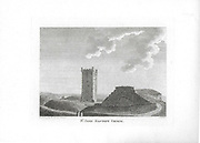 Engravings of Scottish landscapes and buildings from late eighteenth century, St John Baptist church, Scotland, UK 1790