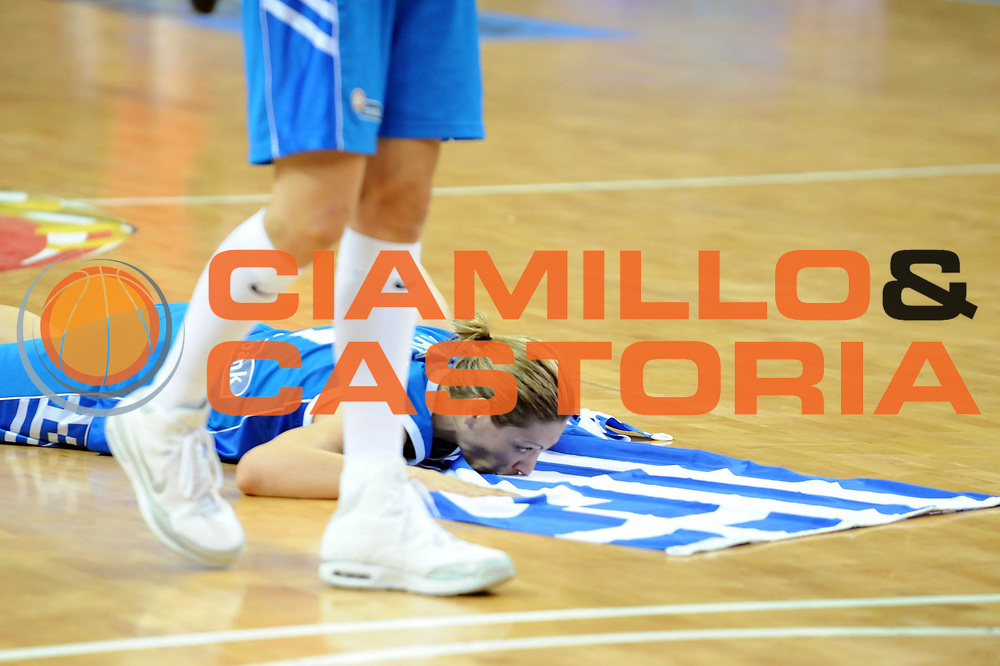 DESCRIZIONE : Riga Latvia Lettonia Eurobasket Women 2009 Semifinal 5th-6th Place Italia Grecia Italy Greece<br /> GIOCATORE : Evanthia Maltsi<br /> SQUADRA : Grecia Greece<br /> EVENTO : Eurobasket Women 2009 Campionati Europei Donne 2009 <br /> GARA : Italia Grecia Italy Greece<br /> DATA : 20/06/2009 <br /> CATEGORIA : esultanza<br /> SPORT : Pallacanestro <br /> AUTORE : Agenzia Ciamillo-Castoria/M.Marchi<br /> Galleria : Eurobasket Women 2009 <br /> Fotonotizia : Riga Latvia Lettonia Eurobasket Women 2009 Semifinal 5th-6th Place Italia Grecia Italy Greece<br /> Predefinita :