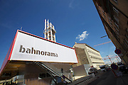 Opening Day of the BAHNORAMA, an exhibition about Vienna's new Central Railway Station developed by RAHM architects. It features a 66 meters high wooden tower offering a superb view over the nearby giant construction site.