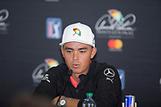 during the `Rickie Fowler (USA) Press Conference during  the The Arnold Palmer Invitational Championship 2017, Bay Hill, Orlando,  Florida, USA. 14/03/2017.<br /> Picture: PLPA/ Mark Davison<br /> <br /> <br /> All photo usage must carry mandatory copyright credit (&copy; PLPA | Mark Davison)
