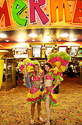 show girls at the Fremont Street Experience.  Las Vegas, Nevada USA