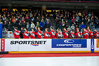 KAMLOOPS, CANADA - NOVEMBER 5: Team WHL bench on November 5, 2018 at Sandman Centre in Kamloops, British Columbia, Canada.  (Photo by Marissa Baecker/Shoot the Breeze)
