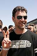 Russell Crowe at the Indy 500 Photo by Michael Hickey