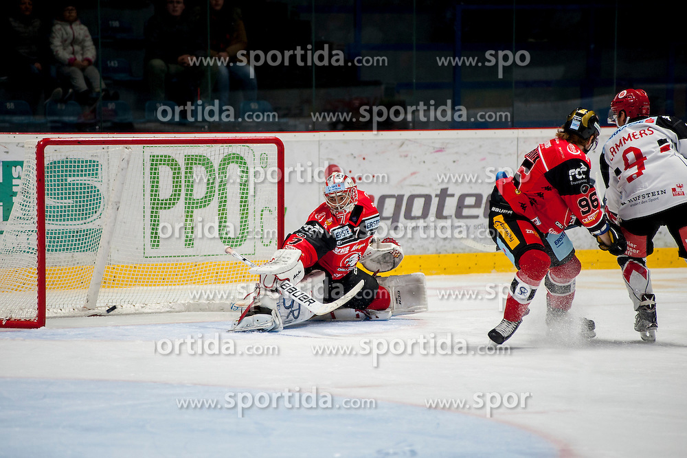 23.10.2016, Ice Rink, Znojmo, CZE, EBEL, HC Orli Znojmo vs HC TWK Innsbruck Die Haie, 13. Runde, im Bild v.l. Patrik Nechvatal (HC Orli Znojmo) Patrik Kaderavek (HC Orli Znojmo) John Lammers (HC TWK Innsbruck) // during the Erste Bank Icehockey League 13th round match between HC Orli Znojmo and HC TWK Innsbruck Die Haie at the Ice Rink in Znojmo, Czech Republic on 2016/10/23. EXPA Pictures © 2016, PhotoCredit: EXPA/ Rostislav Pfeffer