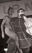 Leigh Bowery giving birth on stage at Flesh, Manchester, 1990s
