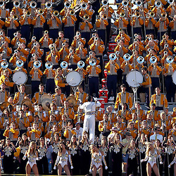 Oct 2, 2010; Baton Rouge, LA, USA; The LSU Tiger Band performs during the second half of a game between the LSU Tigers and the Tennessee Volunteers at Tiger Stadium. LSU defeated Tennessee 16-14.  Mandatory Credit: Derick E. Hingle