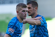 MELBOURNE, VICTORIA - JANUARY 06: Melbourne City midfielder Riley McGree (8) warms up at the Hyundai A-League Round 11 soccer match between Melbourne City FC and Newcastle Jets on at AAMI Park in NSW, Australia 06 January 2019. (Photo by Speed Media/Icon Sportswire)