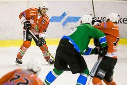 Tommaso Traversa of Rittner Baum during hockey match between HK SZ Olimpija (SLO) and Rittner Buam (ITA) in 1st round of Alps Hockey League 2017/18, on September 13, 2017 in Tivoli, Ljubljana, Slovenia. Photo by Urban Urbanc / Sportida