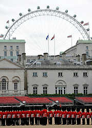 © licensed to London News Pictures. LONDON, UK  23/05/11.Preparations on Horse Guards Parade, London, today (Monday 23rd May 2011) ahead of the State Visit of US President Obama. Please see special instructions. Photo credit should read Stephen Simpson/LNP