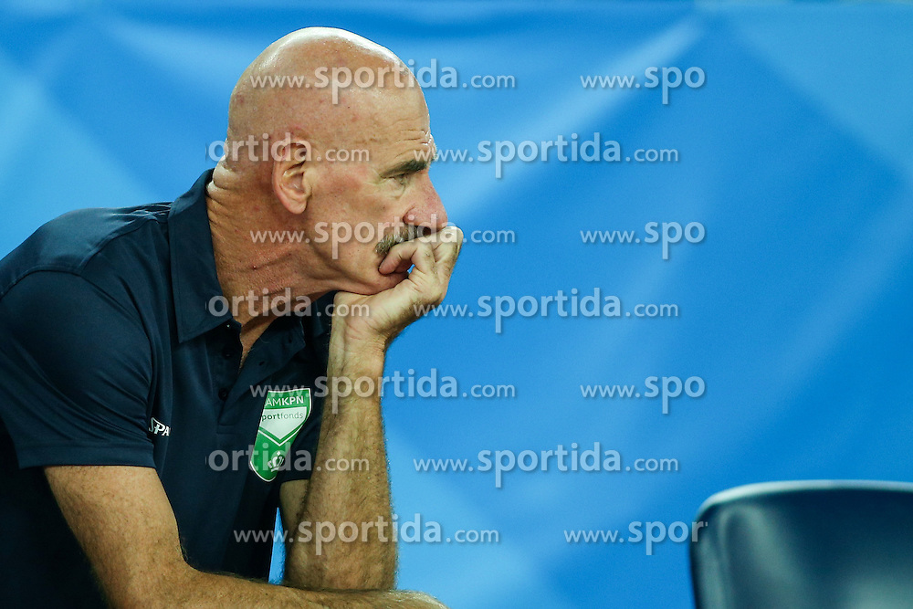 Toon van Helfteren, head coach of Netherlands during basketball match between Slovenia vs Netherlands at Day 4 in Group C of FIBA Europe Eurobasket 2015, on September 8, 2015, in Arena Zagreb, Croatia. Photo by Matic Klansek Velej / Sportida