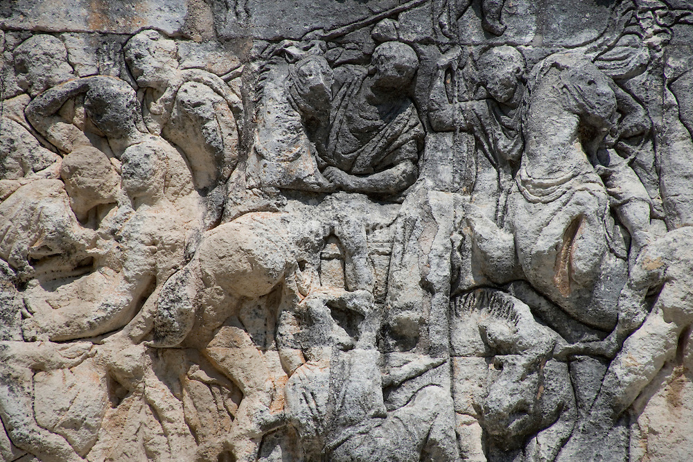 close up of a frieze on the Mausoleum in St. Remy du Provence Roman 30 BC