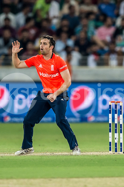 Stephen Parry of England during the 2nd International T20 Series match between Pakistan and England at Dubai International Cricket Stadium, Dubai, UAE on 27 November 2015. Photo by Grant Winter.