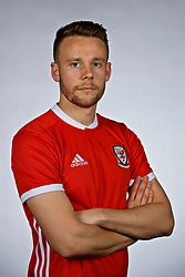 NANNING, CHINA - Saturday, March 24, 2018: Wales' Chris Gunter during a squad photo shoot at the Wanda Realm Hotel on day five of the 2018 Gree China Cup International Football Championship. (Pic by David Rawcliffe/Propaganda)