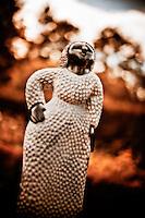 Zimsculpt at Van Dusen Botanical Garden: Happy Lady - springstone sculpture by Aaron Kapembeza (original sculpture available at www.zimsculpt.com)