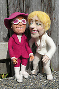 USA - 17/-8/2010 - Celebrity Sculptural needle felting by Kay Petal from Alaska has been creating amazing creations since 2007.all these creations are made by a single needle and wool.<br /> Photo Shows: Ellen DeGeneres and Elton John<br /> (©Kay Petal/Exclusivepix)