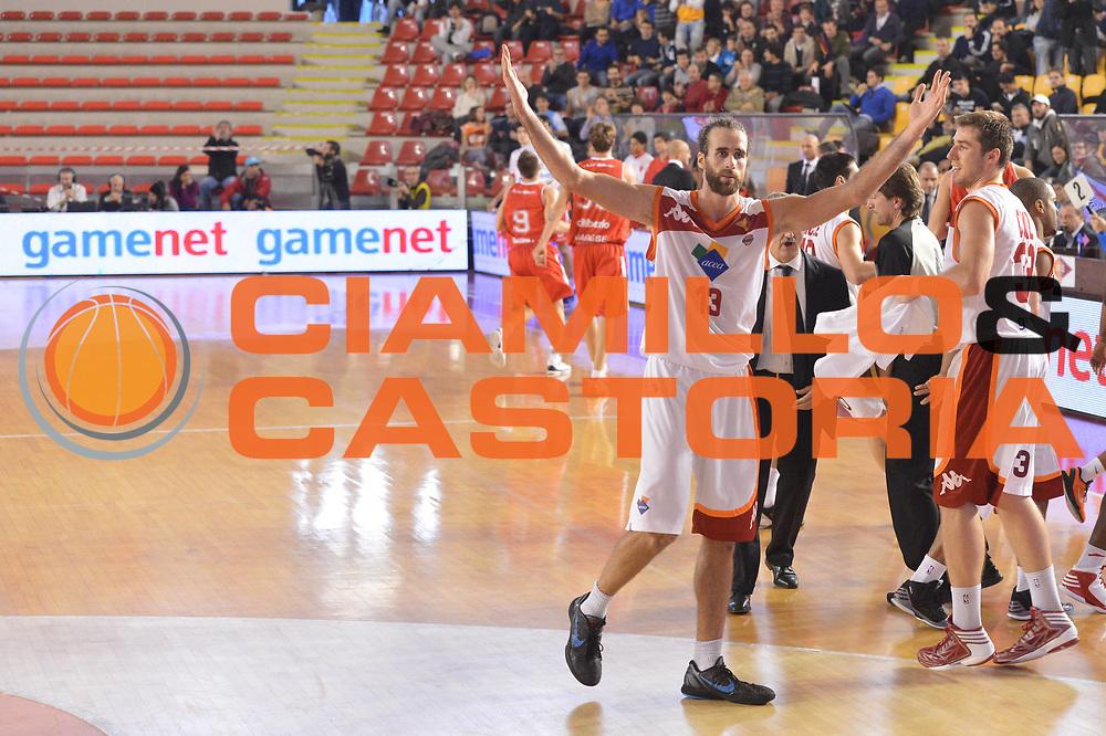 DESCRIZIONE : Roma Lega A 2012-13 Acea Virtus Roma Cimberio Varese<br /> GIOCATORE : Luigi Datome<br /> CATEGORIA : esultanza<br /> SQUADRA : Acea Roma<br /> EVENTO : Campionato Lega A 2012-2013 <br /> GARA : Acea Virtus Roma Cimberio Varese<br /> DATA : 02/12/2012<br /> SPORT : Pallacanestro <br /> AUTORE : Agenzia Ciamillo-Castoria/GiulioCiamillo<br /> Galleria : Lega Basket A 2012-2013  <br /> Fotonotizia : Roma Lega A 2012-13 Acea Virtus Roma Cimberio Varese<br /> Predefinita :