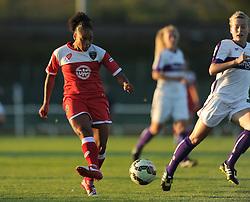 Jade Boho Sayo of Bristol Academy scores to make it 1-1 - Mandatory byline: Dougie Allward/JMP - 07966386802 - 27/08/2015 - FOOTBALL - Stoke Gifford Stadium -Bristol,England - Bristol Academy Women FC v Oxford United Women - FA WSL Continental Tyres Cup