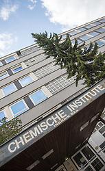 THEMENBILD - Chemische Institute Innsbruck, der Eingang der ehemaligen Chemischischen Instituten der Leopold-Franzens-Universität Innsbruck, welche seit einem Unfall mit radioaktiver Strahlung gesperrt sind, aufgenommen am 20.10.2015 in Innsbruck, Österreich // the former chemical institute of the Leopold-Franzens University, blocked since a accident involving radioactivity, in Innsbruck, Austria on 2015/10/20. EXPA Pictures © 2015, PhotoCredit: EXPA/ Jakob Gruber