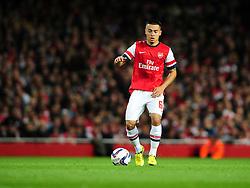 Arsenal's Nico Yennaris - Photo mandatory by-line: Joe Meredith/JMP  - Tel: Mobile:07966 386802 26/09/2012 - Arsenal v Coventry City  - SPORT - FOOTBALL - Capital One League Cup -  London  - Emirates Stadium