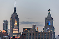 New York , elevated view, midtown skyline, the empire state building - United states