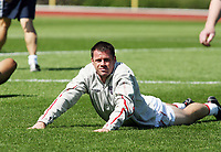 Photo: Chris Ratcliffe.<br />England training session. 07/06/2006.<br />Jamie Carragher in training.