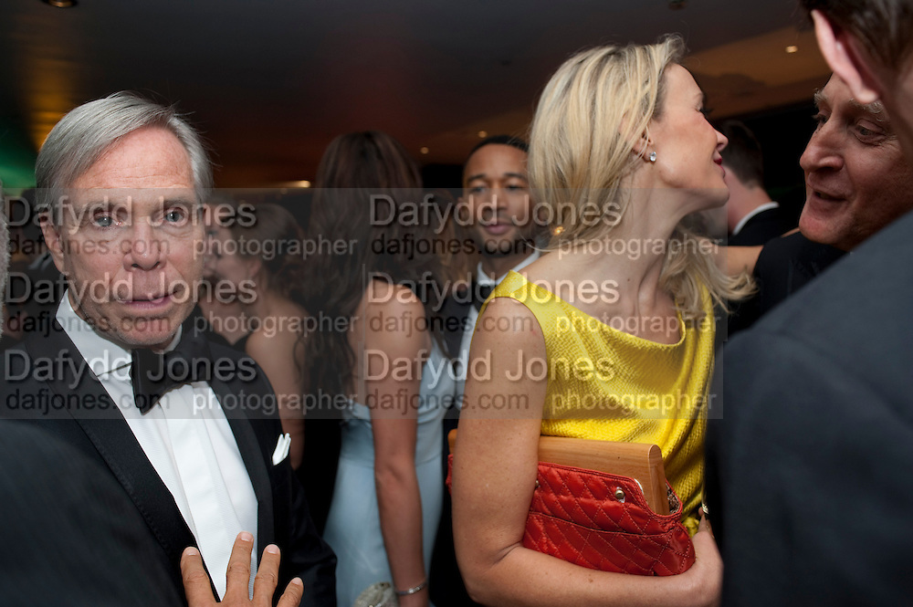 TOMMY HILFIGER; DEE HILFIGER, GQ Men of the Year awards. The royal Opera House. Covent Garden. London. 6 September 2011. <br /> <br />  , -DO NOT ARCHIVE-© Copyright Photograph by Dafydd Jones. 248 Clapham Rd. London SW9 0PZ. Tel 0207 820 0771. www.dafjones.com.