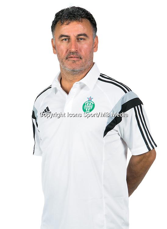 Christophe GALTIER - 06.10.2014 - Portrait Officielle de Saint Etienne - Ligue 1<br /> Photo : Icon Sport