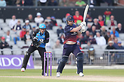 Lancashires Steven Croft  during the Royal London 1 Day Cup match between Lancashire County Cricket Club and Worcestershire County Cricket Club at the Emirates, Old Trafford, Manchester, United Kingdom on 17 April 2019.
